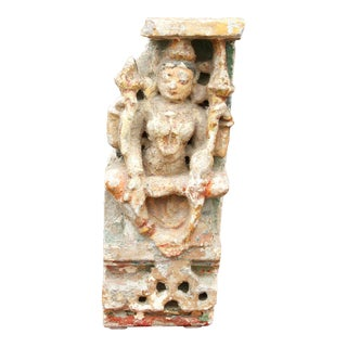 Early 19th Century Devi Architectural Stone Fragment For Sale