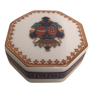 Vintage Trinket Porcelain Box For Sale