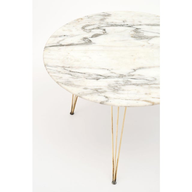 Vintage Mid-Century Italian Marble Top Table For Sale - Image 4 of 10