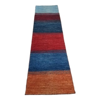 Late 20th Century Shirvan Bold Stripe Runner-2′6″ × 9′ For Sale