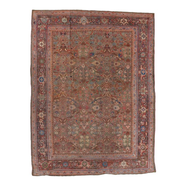Olive Ground Mahal Carpet For Sale