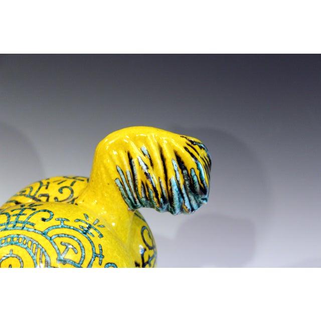 "Ceramic Vintage Italian Bellini Huge Ceramic Horse Figure - 18"" For Sale - Image 7 of 9"