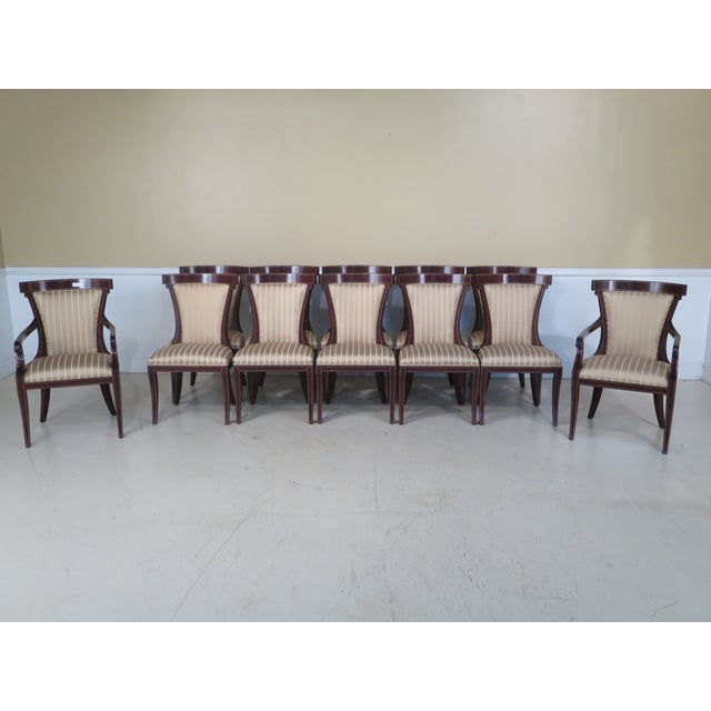 Set of 12 John Widdicomb Regency Upholstered Dining Room Chairs Age: Approx: 10 Years Old Details: Model JW-1774 Solid...