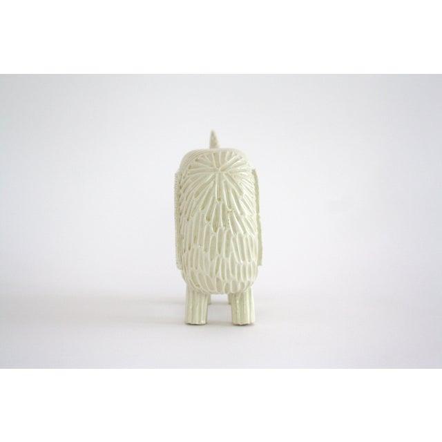 2010s Modern Primitive Porcelain Rhino For Sale - Image 5 of 8