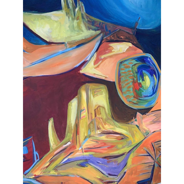 Large Surrealist Canvas Painting For Sale In Denver - Image 6 of 13