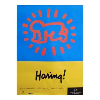 1998 Original Keith Haring Poster, Pop Art Exhibition