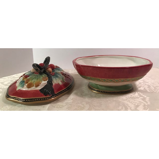 Fitz & Floyd Holiday Covered Serving Dish - Image 7 of 11