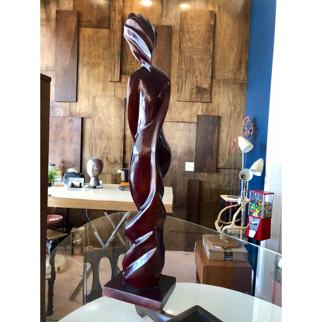 Contemporary Wood Abstract Cubist Nude Figure For Sale - Image 4 of 6