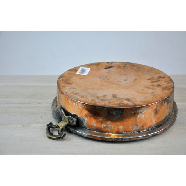 Copper Oval Antique Copper Bowl For Sale - Image 7 of 11