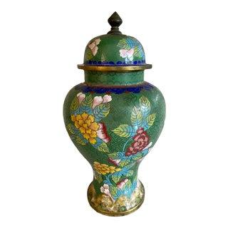 Antique Cloisonné Ginger Jar For Sale