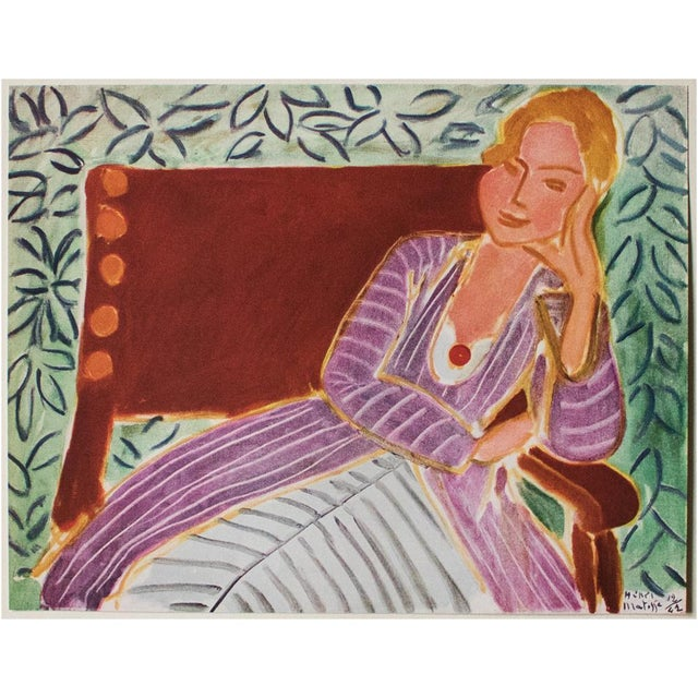 "1946 Henri Matisse, ""Girl in the Persian Dress"" Parisian Lithograph/Pablo Picasso Collection For Sale In Dallas - Image 6 of 13"