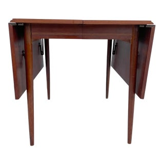Mid-Century Walnut Drop Leaf Dining Table For Sale