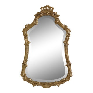 Friedman Brothers Model 6139 Beveled Glass Gold Framed Mirror For Sale