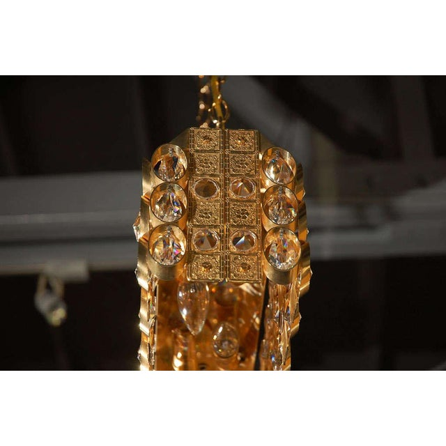 Lobmeyr Crystal and Gold Pendant For Sale - Image 9 of 11
