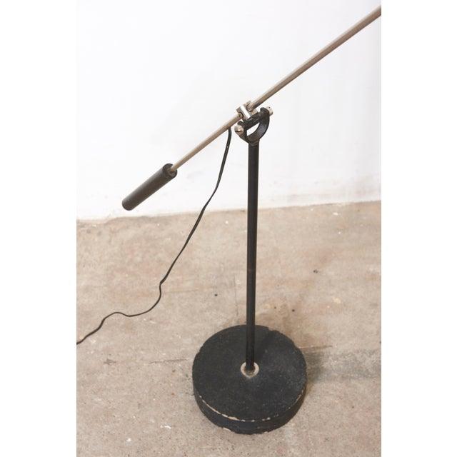 Black Hoogervorst Rare Counter Balance Floor Lamp for Anvia 1950s Netherlands For Sale - Image 6 of 11