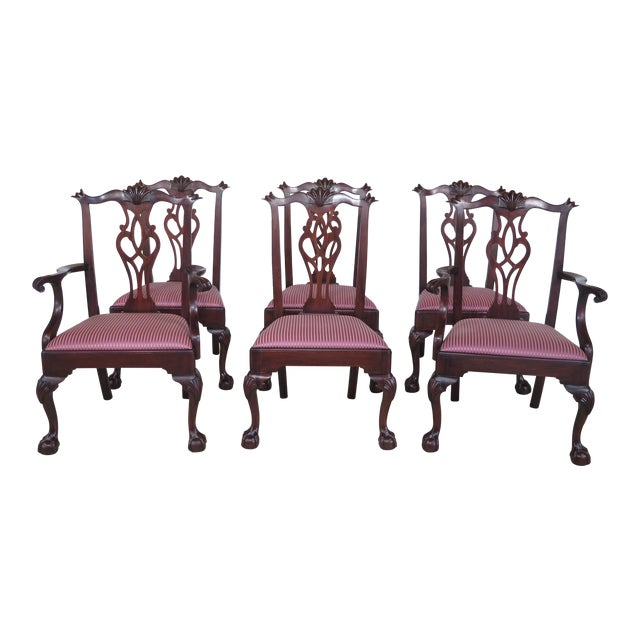 Henkel Harris Claw Foot Mahogany Dining Chairs - Set of 6 - Image 1 of 11