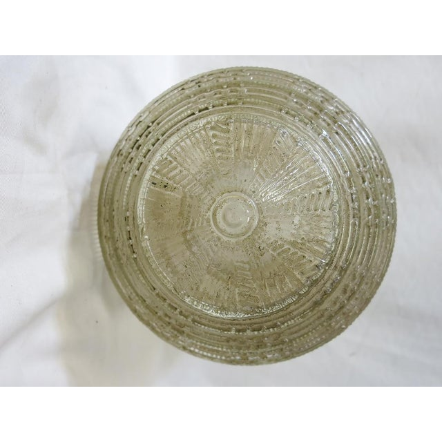 Early 20th Century Federal Glass Stepped Skyscraper Ceiling Glass Globe Pendant For Sale - Image 5 of 7