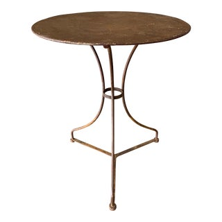 Small French Iron Bistro Garden Table For Sale