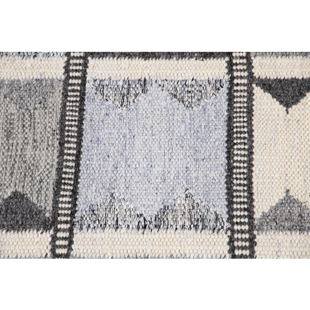 Lights 21st Century Contemporary Swedish Style Runner Rug, 3' X 12' For Sale - Image 7 of 11