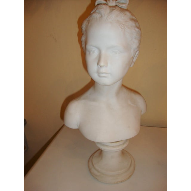 Brother and Sister Parian Busts- A Pair - Image 4 of 8