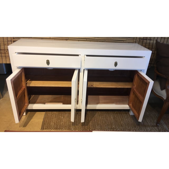 White Lacquered Asian Dresser - Image 2 of 3