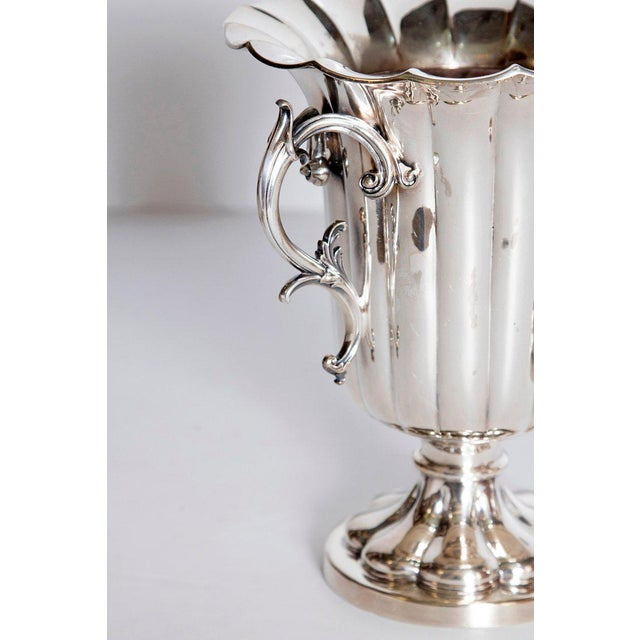Metal Mid-19th Century Pair of Silver Plate Ice Vases by Elkington & Co., England For Sale - Image 7 of 13