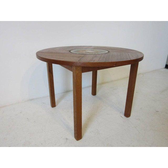 Tue Poulsen Tue Poulsen Tile Topped Danish Teak Side Table For Sale - Image 4 of 5