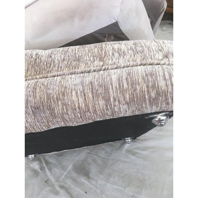 2010s Velvet Pillow Stools - Set of 3 For Sale - Image 5 of 9