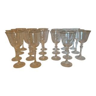 Stemmed Glassware - Set of 21 For Sale