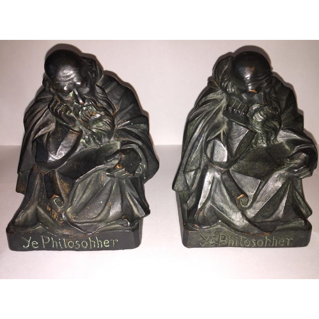 1915 S. Morani Armor Bronze Bookends - a Pair - Image 10 of 10