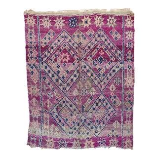 """Beni M'Guild Vintage Moroccan Rug, 5'5"""" X 6'7"""" For Sale"""