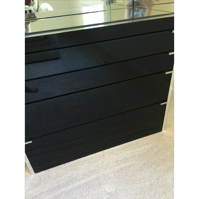 Black Ello Black Glass Curio Cabinet Desk For Sale - Image 8 of 11