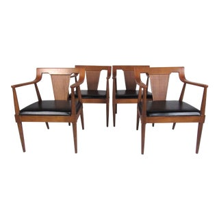 Stylish Set of American Modern Dining Chairs by Basic Witz For Sale