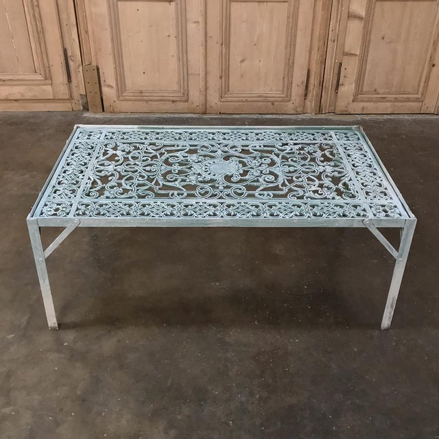 19th Century Iron Panel Coffee Table combines the artistry of the 19th century with the clever application of metal...