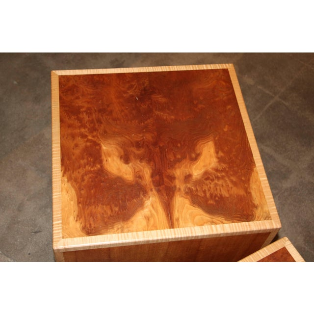 """Wood 1990s Vintage Joseph Kelly Custom Made """"Rorshach Bunching"""" Tables- A Pair For Sale - Image 7 of 11"""