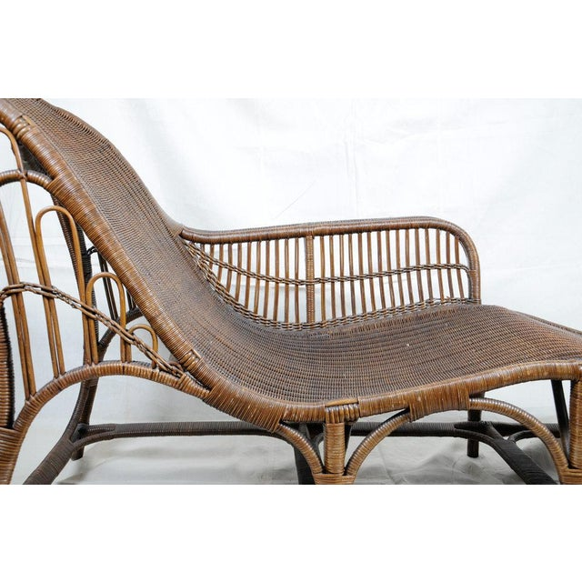 Harry Peach Company Drayad Registered Wicker Chaise, Accent Piece, Lounge, Room Accessory For Sale - Image 4 of 8