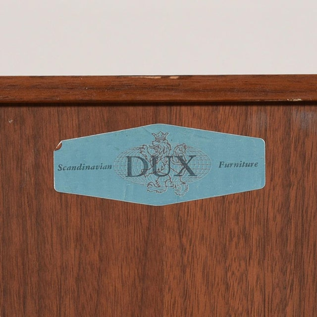 Compact Mid-Century Swedish Modern Cabinet in Walnut by Dux For Sale - Image 10 of 13