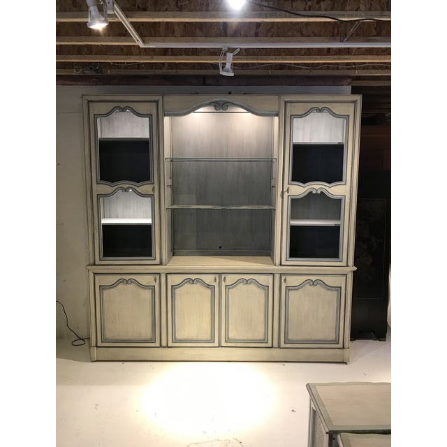 1980s French Curio China Display Cupboard Armoire For Sale - Image 4 of 12