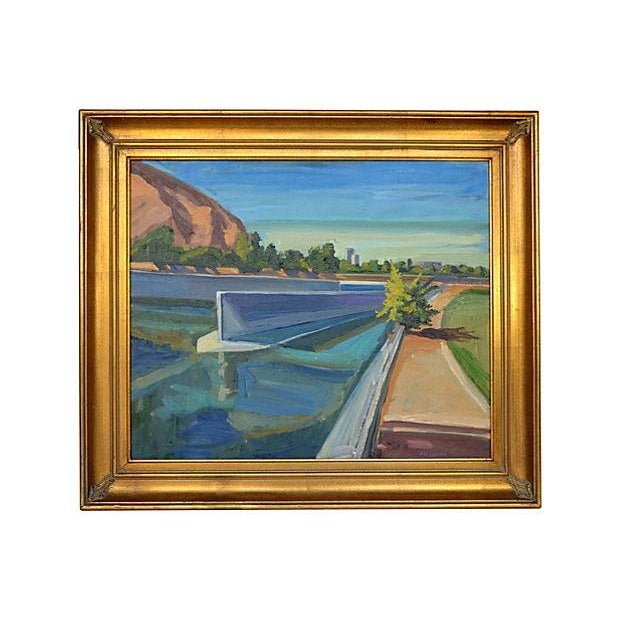 Ray Cuevas Los Angeles River Painting - Image 1 of 2