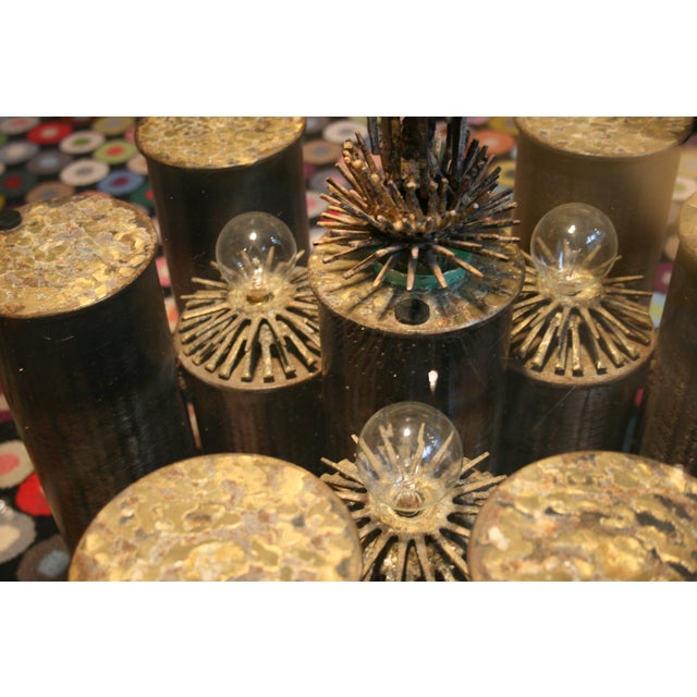 E. Garfinkle Brutalist Coffee Table With Coordinating Chandelier For Sale - Image 10 of 13