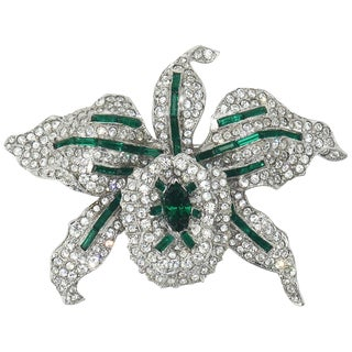 1930's Alfred Philippe for Trifari Orchid Tremblant Brooch For Sale