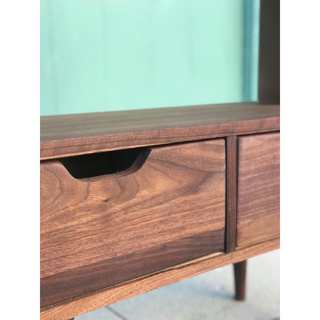 Sculpting Custom Mid Century Style Bookcase For Sale - Image 7 of 8
