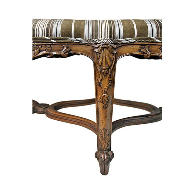 Bench - Antique Carved Bench - Image 5 of 5