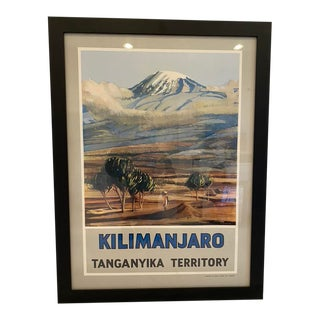 "Vintage ""Mount Kilimanjaro"" Framed Poster For Sale"
