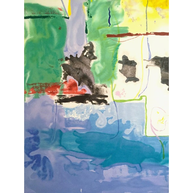 "Blue Helen Frankenthaler Rare Lmt Edtn Hand Pulled Original Silkscreen Print "" West Wind "" 1996 For Sale - Image 8 of 13"