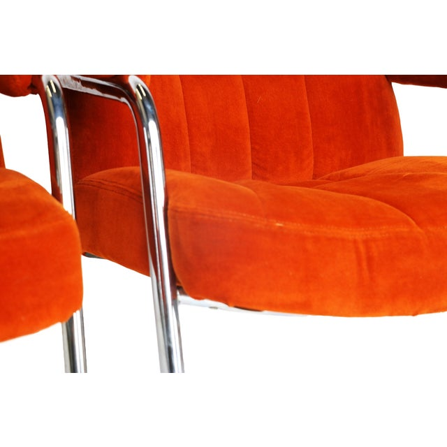 Pair Chrome Milo Baughman-Style Chairs - Image 10 of 10