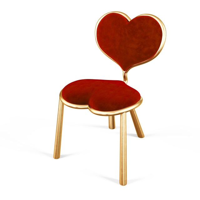 Metal Cast Bronze Heart Chair by Artist Troy Smith - Contemporary Design - Limited Edition For Sale - Image 7 of 8