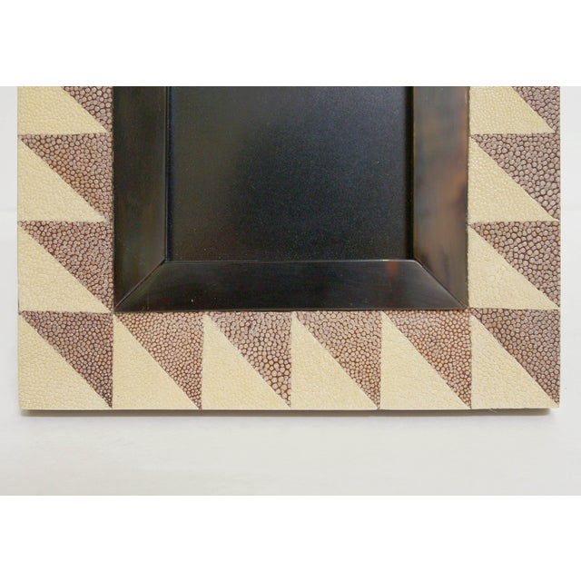 Fabio Ltd Shagreen and Horn Photo Frame by Fabio Ltd For Sale - Image 4 of 6