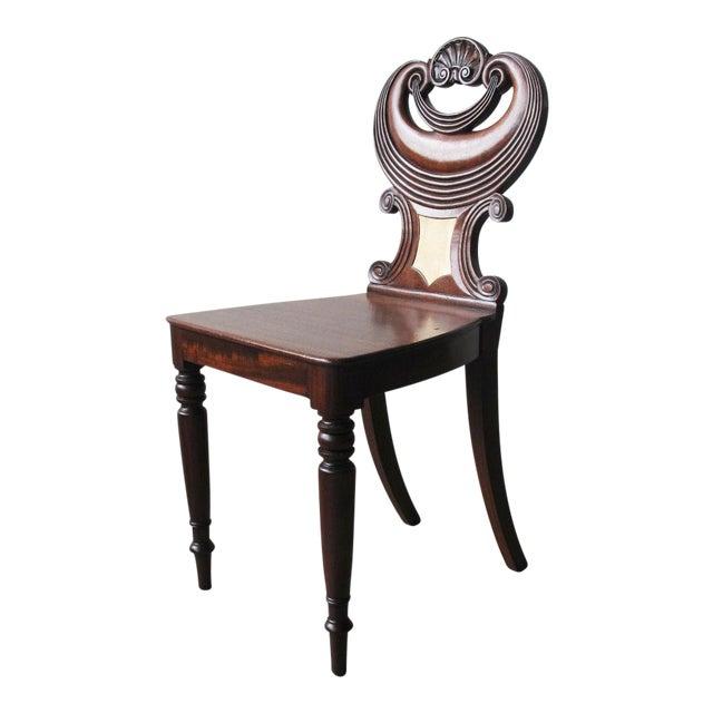 English Regency Mahogany Hall Chair For Sale