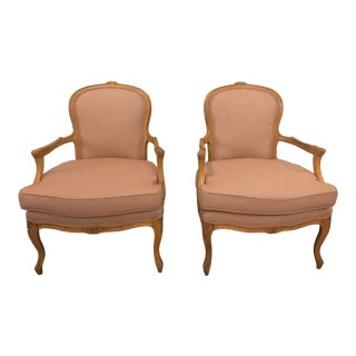 Reupholstered Vintage Accent Chairs - a Pair For Sale